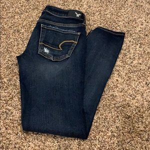 like new destroyed American Eagle jeggings